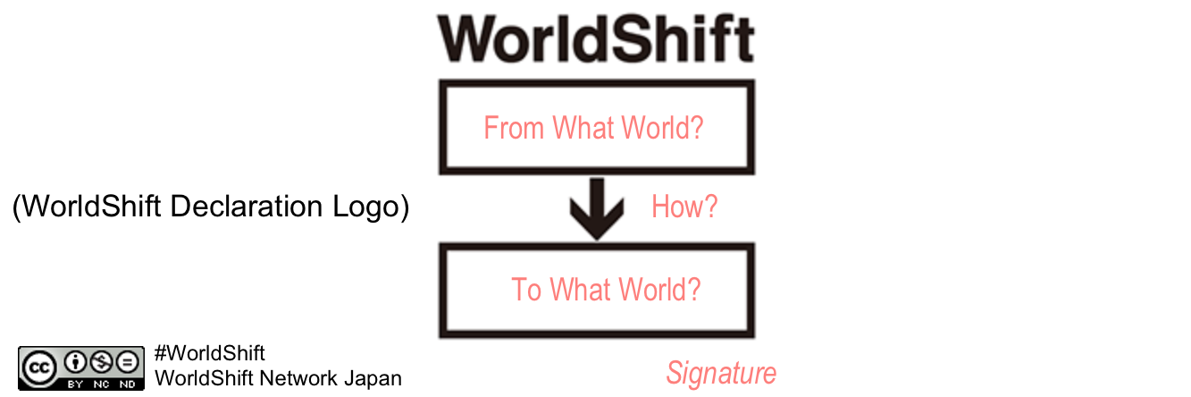 WorldShift Declaration Logo - illustrated
